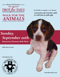 Trot for Tails Poster - Bonavista Rev2